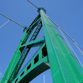 Tower of Lions Gate Bridge Royalty Free Stock Photos