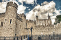 Tower of london beautiful view in autumn Stock Photo