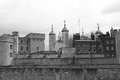 Tower of London Black and White Royalty Free Stock Photography