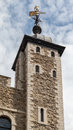 Tower of london england one the towers the castle fortified walls Royalty Free Stock Images
