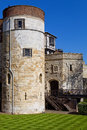 Tower of london the medieval castle and prison Royalty Free Stock Photos