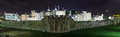 Tower of London night panorama, UK Royalty Free Stock Images