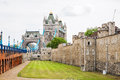Tower of London and Tower Bridge. London, England Royalty Free Stock Photo