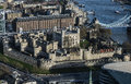 Tower of London, view from the Sky Garden Royalty Free Stock Photo