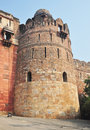 A Tower at the Main Gate of Purana Qila Delhi Stock Photo