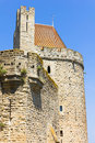Tower in the medieval city of carcassonne france Stock Images