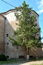 Tower in medieval Fagaras fortress, in Brasov county, Transylvania Royalty Free Stock Photo
