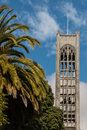 Tower of Nelson Cathedral in New Zealand Royalty Free Stock Photo