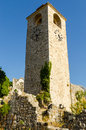Tower at the old bar montenegro clock Royalty Free Stock Image