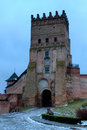 Tower of the Old castle in town Lutsk Royalty Free Stock Images