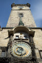 The tower of the old town hall and the famous astronomical clock orloj prague czech republic Royalty Free Stock Image