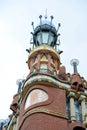 Tower at Palau de la Música Catalana, Barcelona Royalty Free Stock Photo