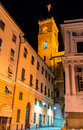Tower of Palazzo Ducale in Genoa Royalty Free Stock Photo