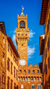 Tower of Palazzo Vecchio in Florence. Italy Royalty Free Stock Photo