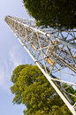 Tower in the parco sempione in milan high a park italy Royalty Free Stock Photo