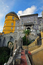 Tower of pena palace in sintra Stock Photography
