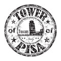 The Tower of Pisa rubber stamp Royalty Free Stock Photo