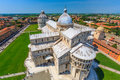 Tower of pisa view from top Royalty Free Stock Images