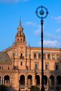 Tower of Plaza de Espana, Seville Royalty Free Stock Photos