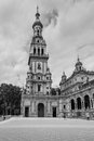 Tower of the Plaza de Espana in Seville in Spain