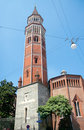 Tower of the royal palace xviii century milan italy palazzo reale founded in xii current view since Stock Photo