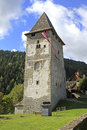 Tower ruin of castle petersberg in friesach austria Stock Images