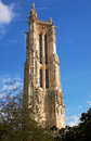 Tower of Saint Jacques in Paris Royalty Free Stock Photo