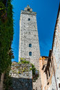 Tower in san gimignano toscana landmark is a small walled medieval hill town the province of siena tuscany north central italy Royalty Free Stock Photos
