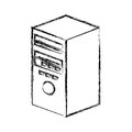 Tower server isolated icon