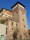 Tower of settimo torinese torre medievale medieval castle near turin Stock Photo