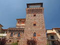 Tower of settimo torre medievale medieval castle in torinese near turin Stock Images