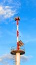Tower signal warn tsunami of thailand Royalty Free Stock Photography