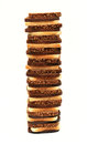 Tower of sliced rye bread Royalty Free Stock Photography
