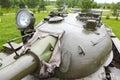 Tower Soviet tank T-54 Royalty Free Stock Photo