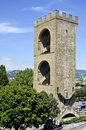 Tower st niccolo florence view of the imposing to guard the city Royalty Free Stock Photo
