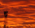 Tower at Sunrise 1804 Stock Photography