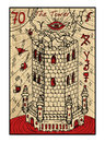The Tower. The tarot card Royalty Free Stock Photo
