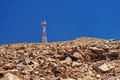 Tower of telecommunications on mountain, leh, ladakh Royalty Free Stock Photo
