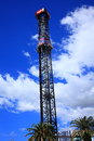 Free fall tower thrill ride Royalty Free Stock Photo