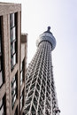 Tower to hight call tokyo sky tree in japan Stock Photos