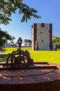Tower torre del conde in san sebastian la gomera island cana canary spain Royalty Free Stock Images