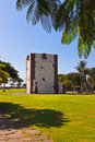Tower torre del conde in san sebastian la gomera island canary spain Royalty Free Stock Image
