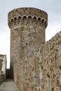 Tower Tossa de Mar, Spain Royalty Free Stock Photography