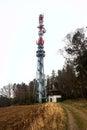 Tower transmitter Royalty Free Stock Photo