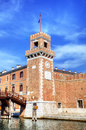 Tower of Venice Arsenal and Naval Museum. Royalty Free Stock Photos