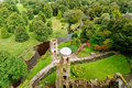 Tower view blarney castle territorial from the top of the ruins of Royalty Free Stock Images