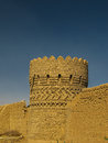 Tower in the wall around Dowlat Abad Garden, Yazd Iran Royalty Free Stock Photo