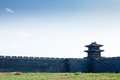 Tower and wall of chinese traditional style this picture was taken in shenyang liaoning province china Royalty Free Stock Photography