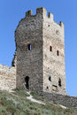 Tower and wall of fortress in feodosia crimea ukraina Royalty Free Stock Photo