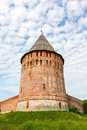 Tower and wall of the kremlin veseluha smolensk Stock Photos